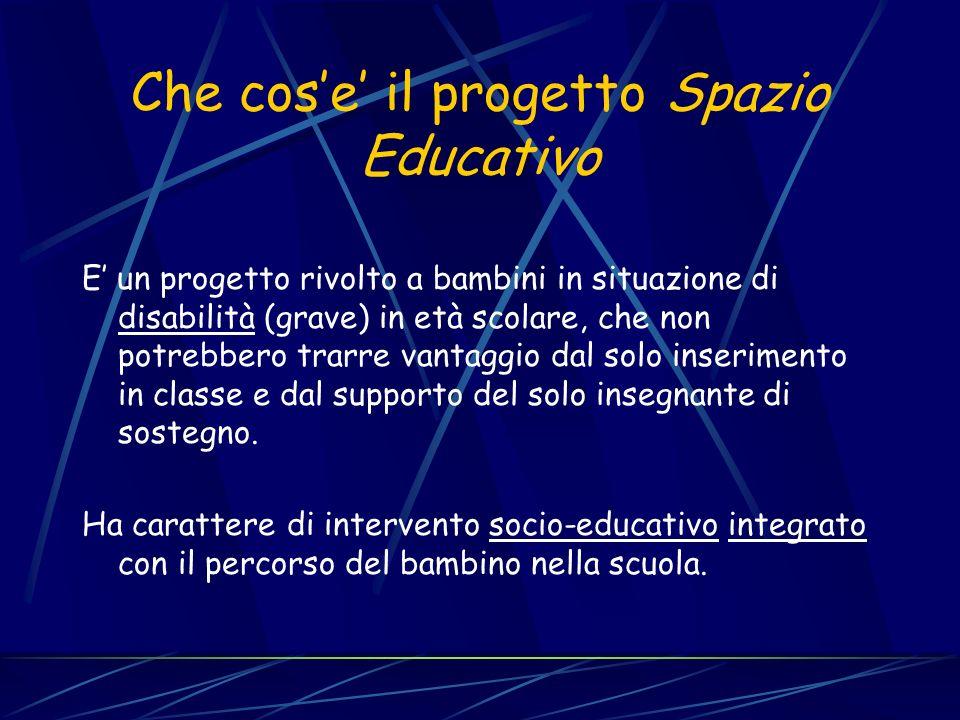 Che cos'e' il progetto Spazio Educativo