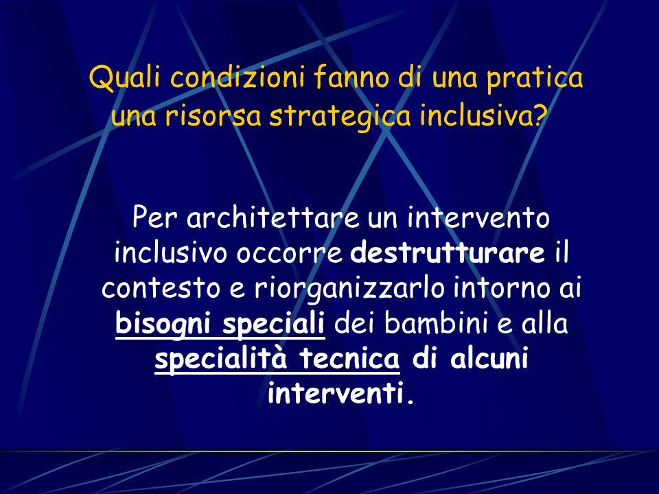 Quali condizioni fanno di una pratica una risorsa strategica inclusiva