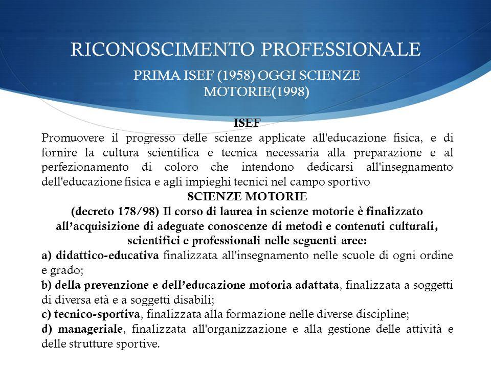 RICONOSCIMENTO PROFESSIONALE