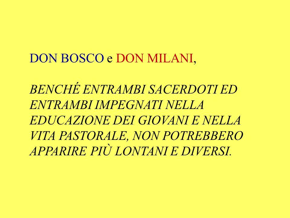 DON BOSCO e DON MILANI,