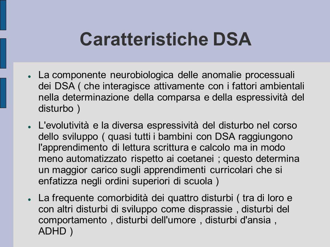 Caratteristiche DSA