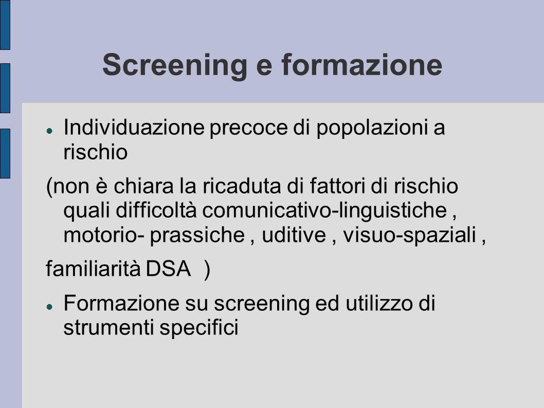 Screening e formazione
