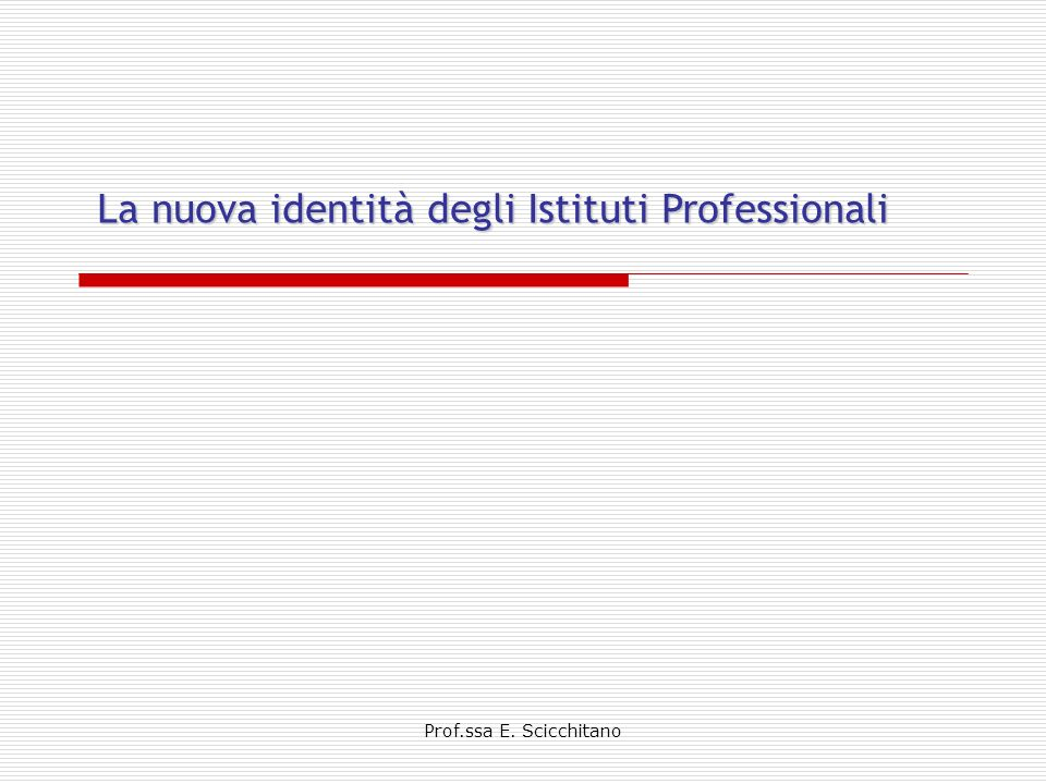 La nuova identità degli Istituti Professionali