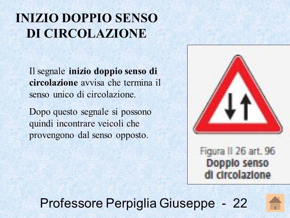 INIZIO DOPPIO SENSO DI CIRCOLAZIONE