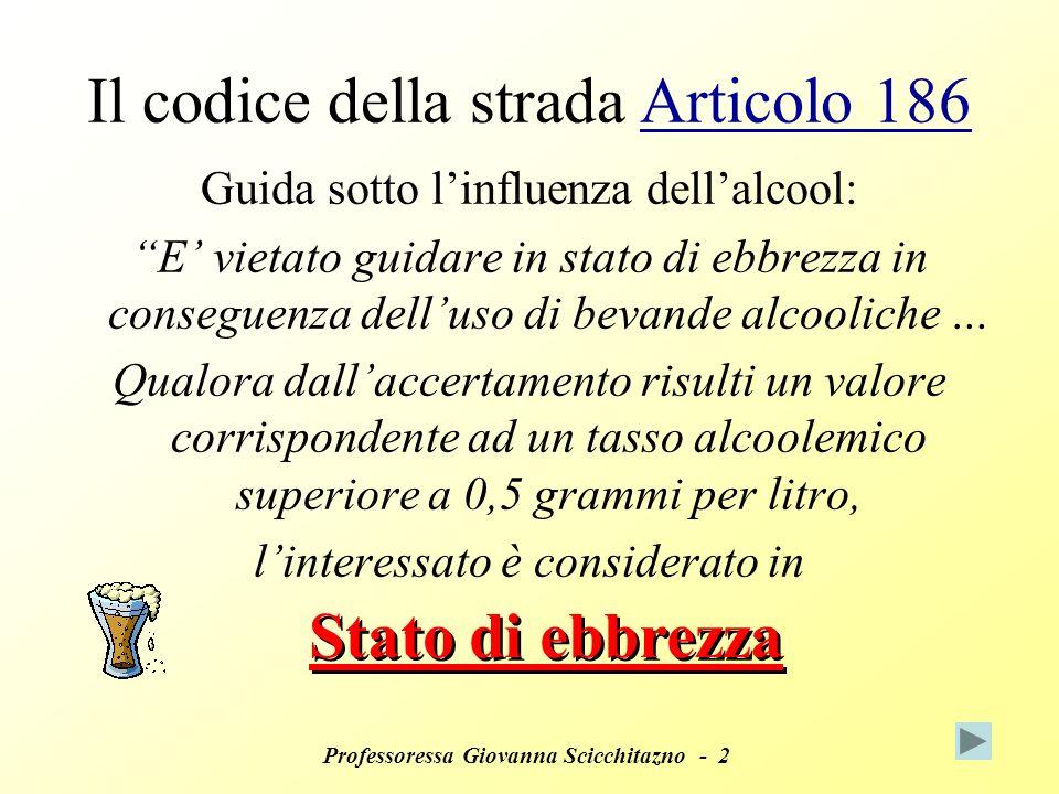 Il codice della strada Articolo 186