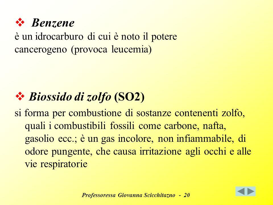 Benzene è un idrocarburo di cui è noto il potere cancerogeno (provoca leucemia)