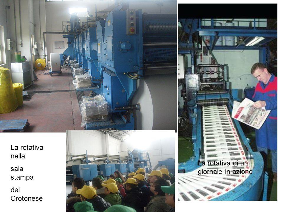La rotativa nella sala stampa del Crotonese La rotativa di un giornale in azione
