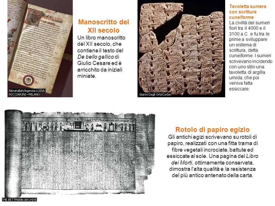 Manoscritto del XII secolo