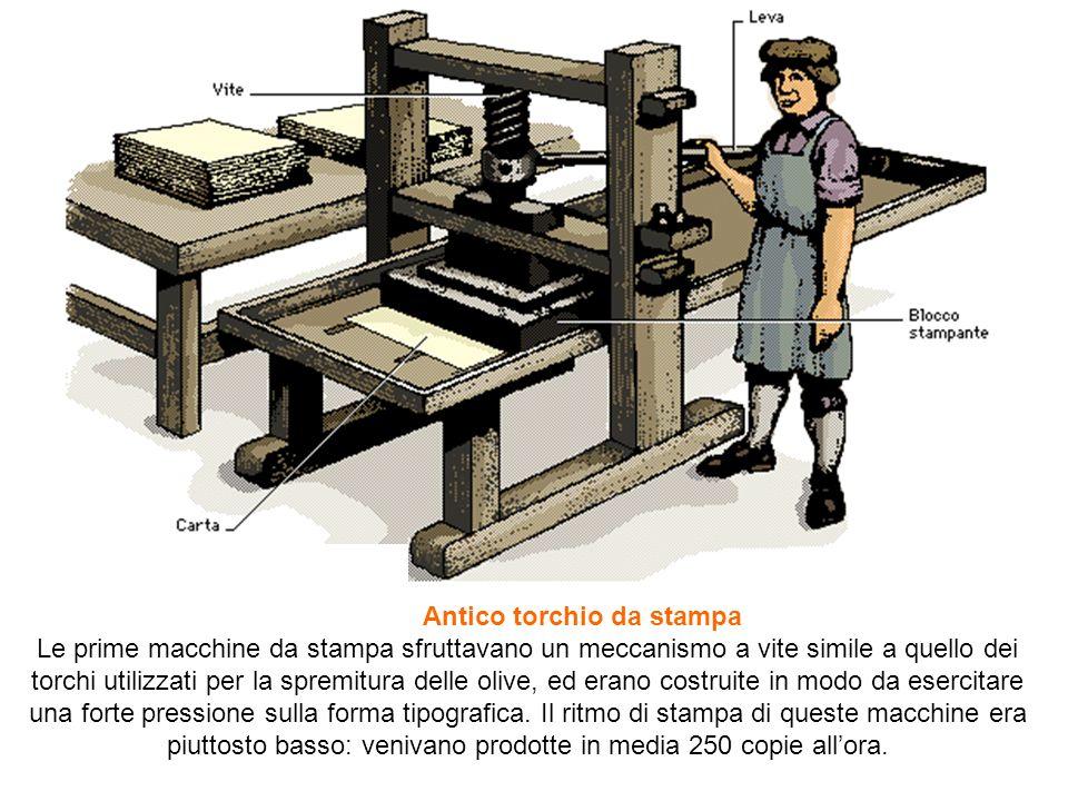 Antico torchio da stampa