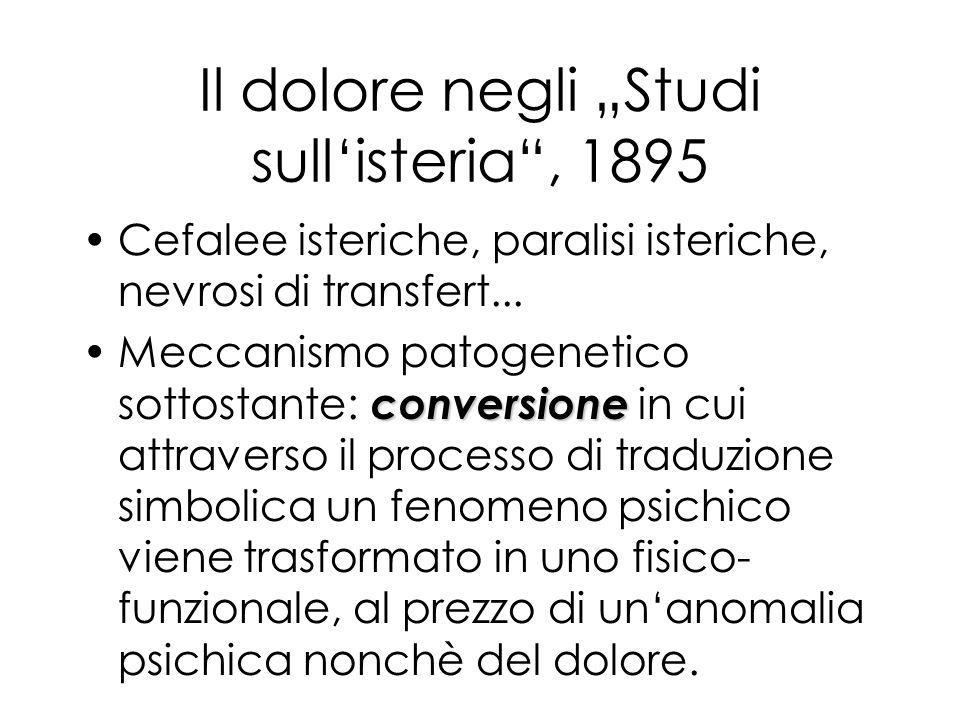"""Il dolore negli """"Studi sull'isteria , 1895"""
