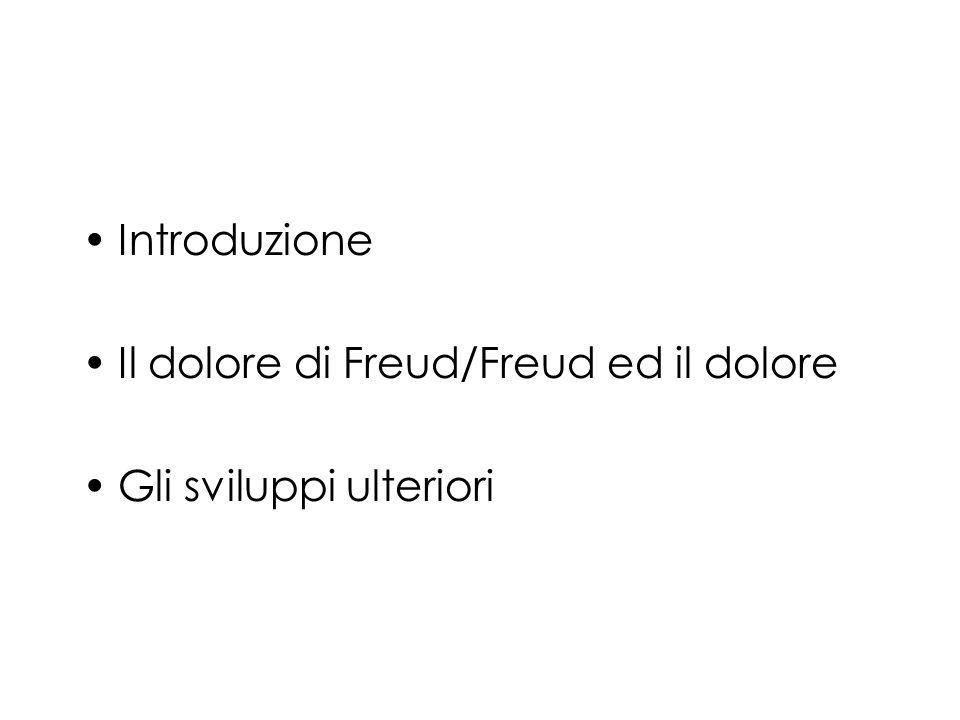 Introduzione Il dolore di Freud/Freud ed il dolore Gli sviluppi ulteriori