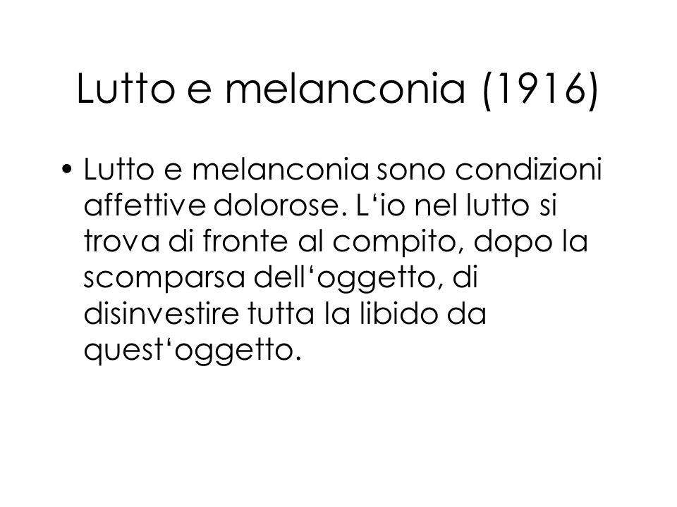 Lutto e melanconia (1916)