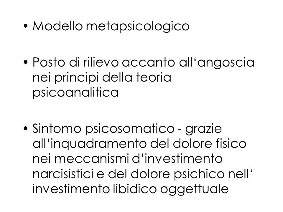 Modello metapsicologico