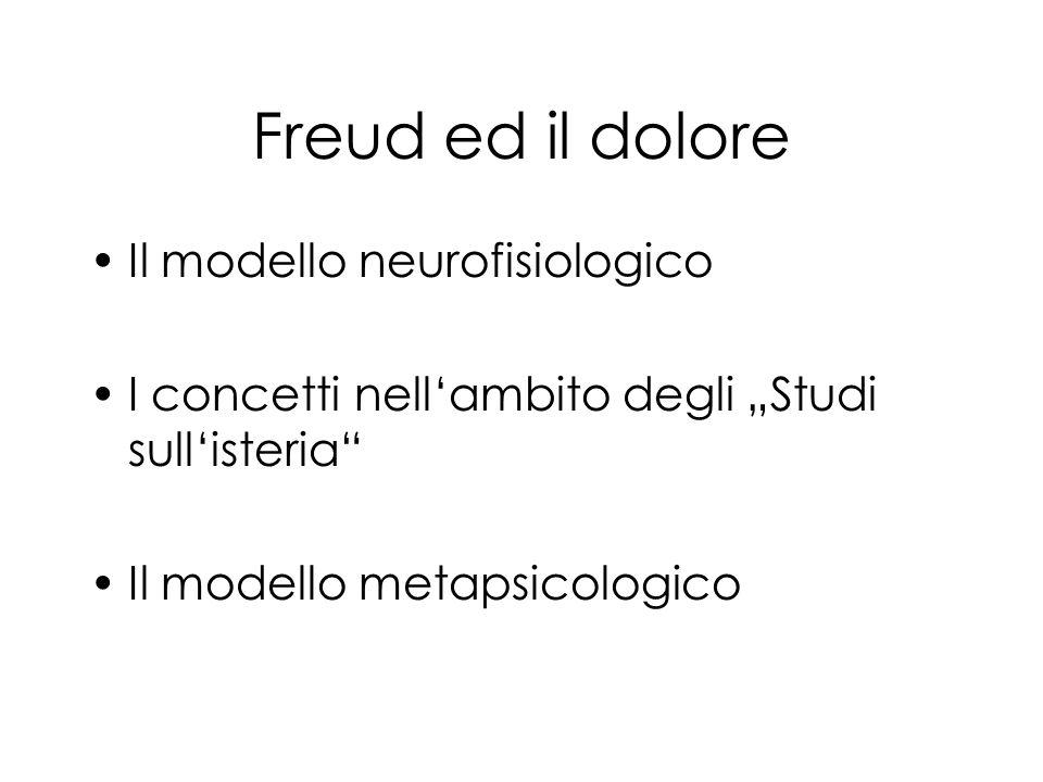 Freud ed il dolore Il modello neurofisiologico