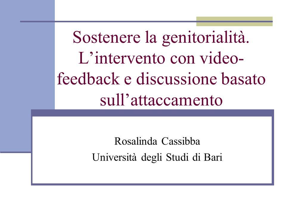 Rosalinda Cassibba Università degli Studi di Bari