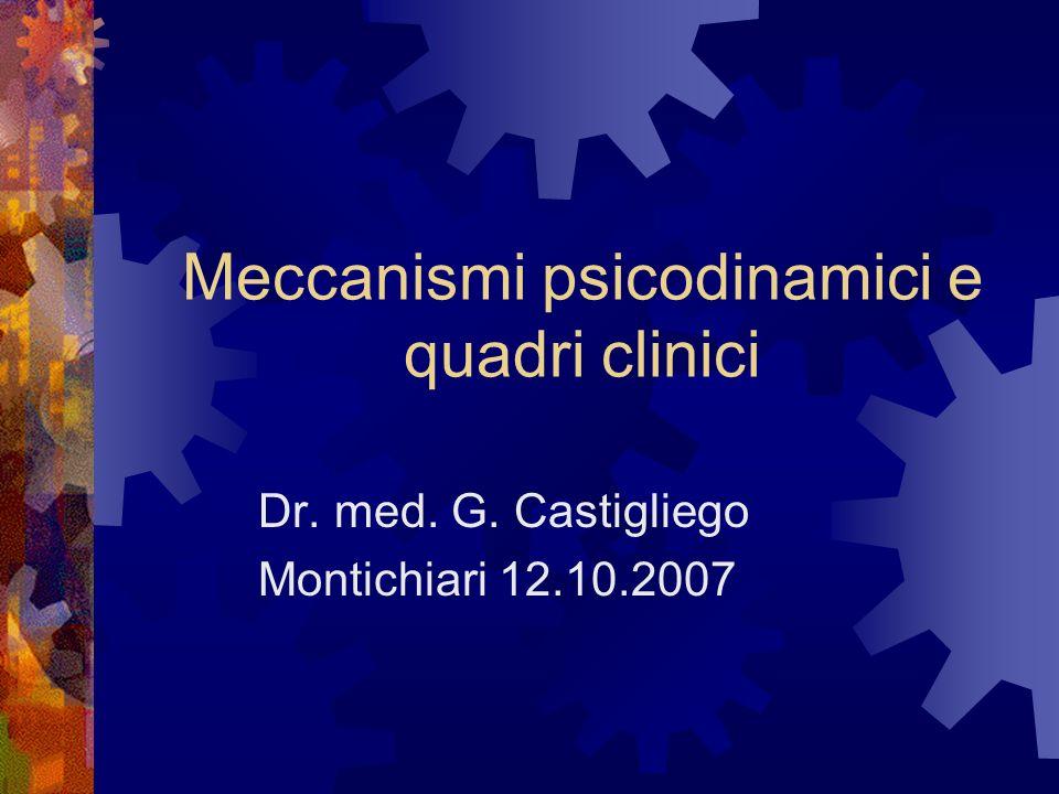 Meccanismi psicodinamici e quadri clinici