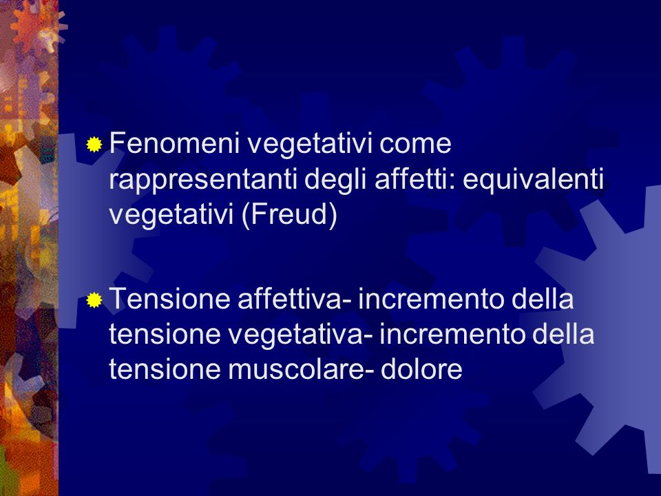 Fenomeni vegetativi come rappresentanti degli affetti: equivalenti vegetativi (Freud)