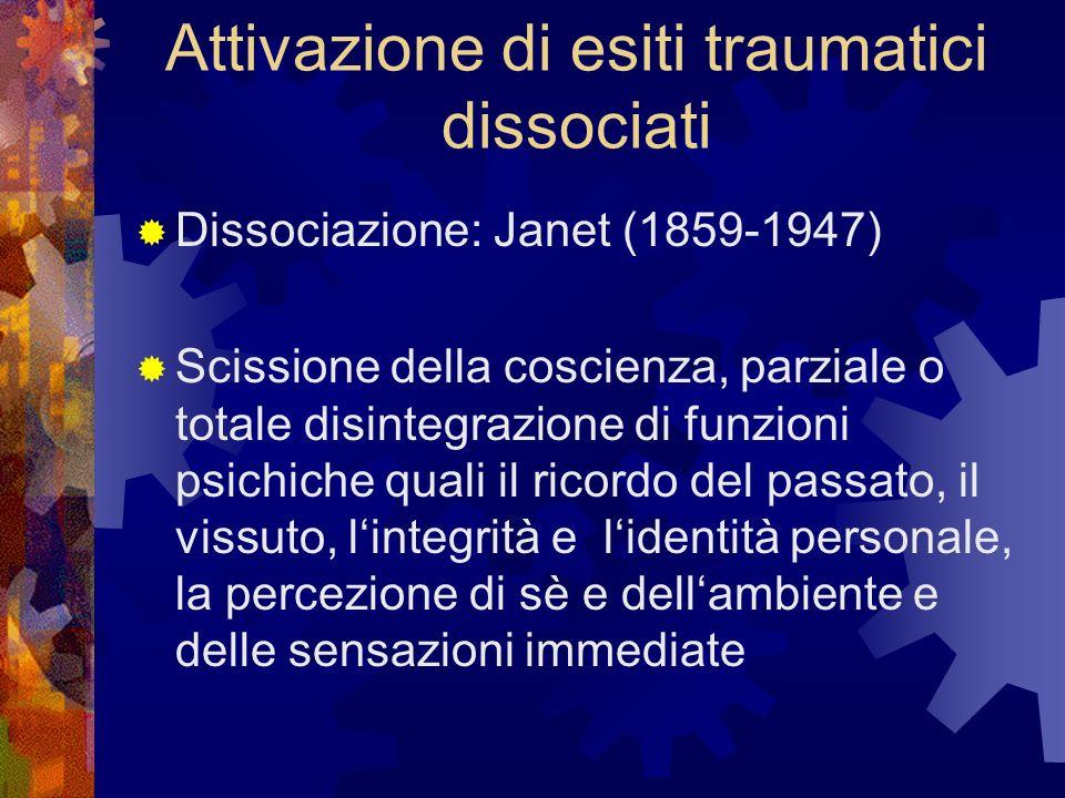 Attivazione di esiti traumatici dissociati