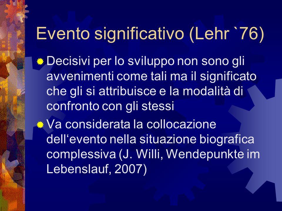 Evento significativo (Lehr `76)