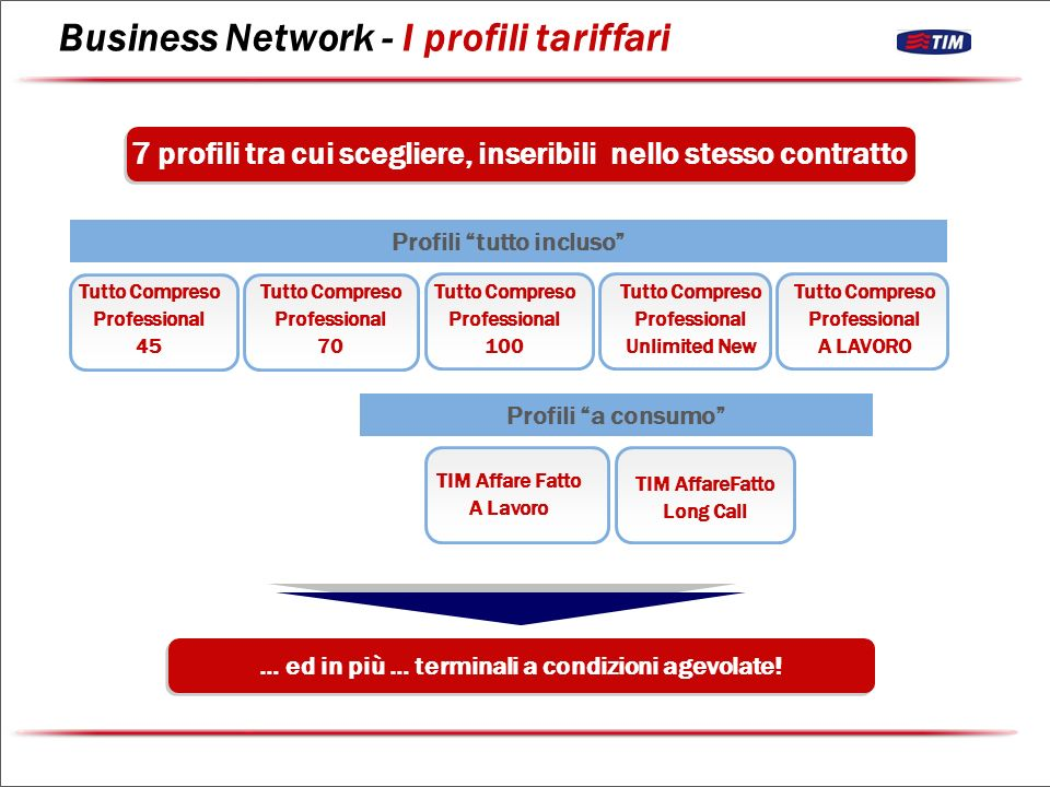 Business Network - I profili tariffari