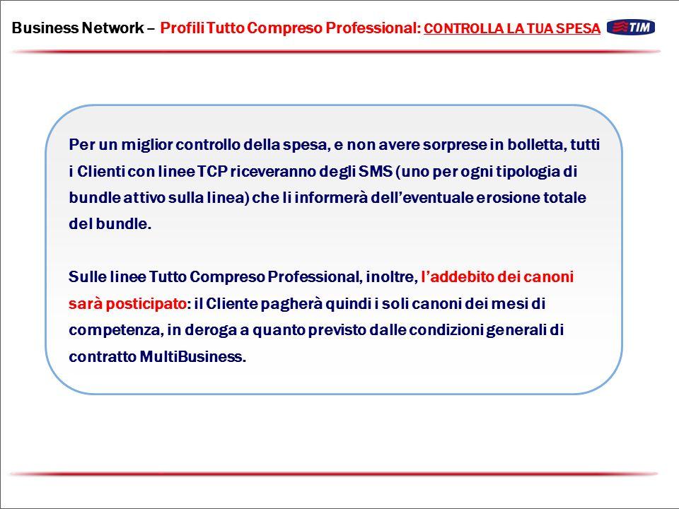 Business Network – Profili Tutto Compreso Professional: CONTROLLA LA TUA SPESA
