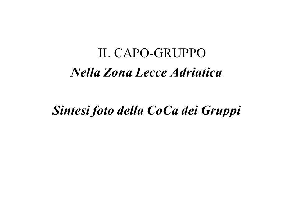 Nella Zona Lecce Adriatica Sintesi foto della CoCa dei Gruppi