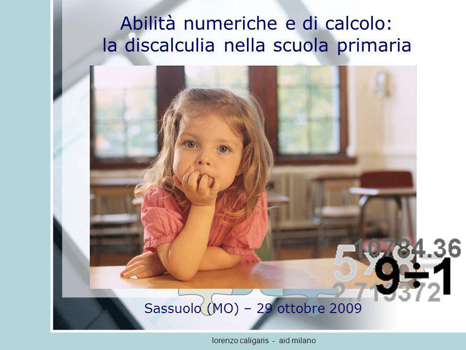 Abilità numeriche e di calcolo: la discalculia nella scuola primaria