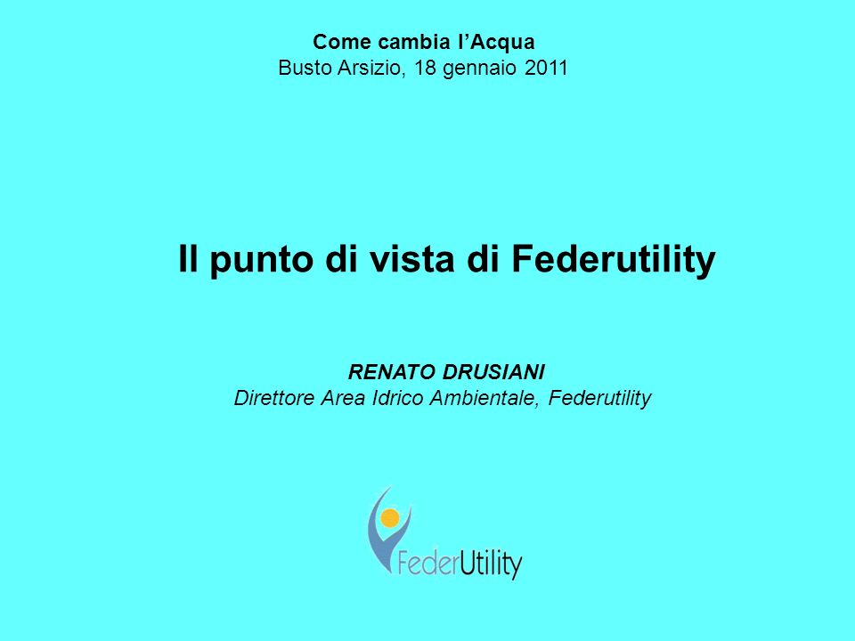 Il punto di vista di Federutility