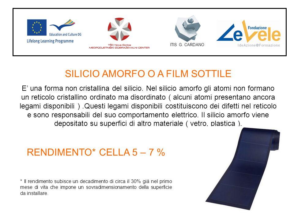 SILICIO AMORFO O A FILM SOTTILE