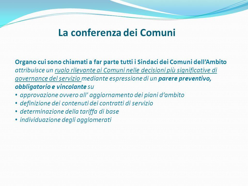 La conferenza dei Comuni