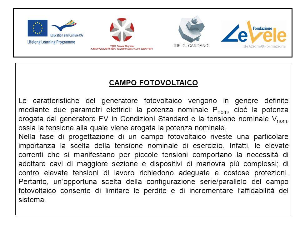ITIS G. CARDANO CAMPO FOTOVOLTAICO.