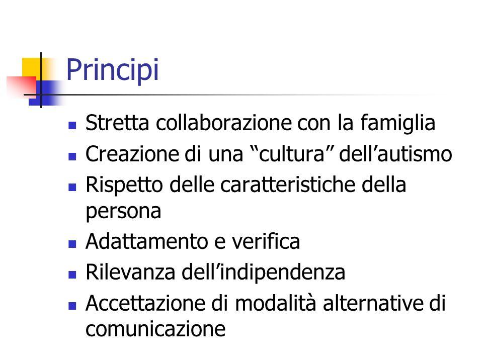 Principi Stretta collaborazione con la famiglia