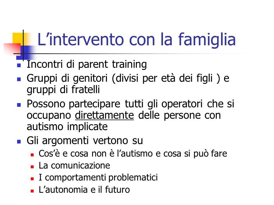 L'intervento con la famiglia