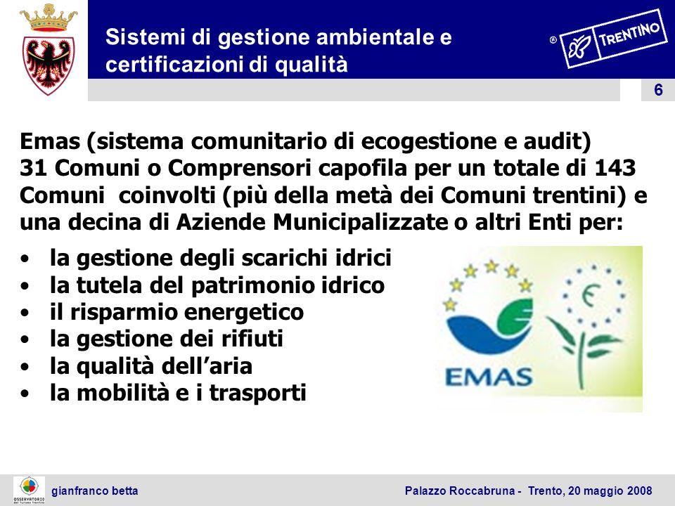 Sistemi di gestione ambientale e certificazioni di qualità