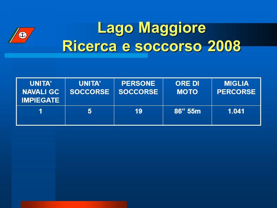 Lago Maggiore Ricerca e soccorso 2008