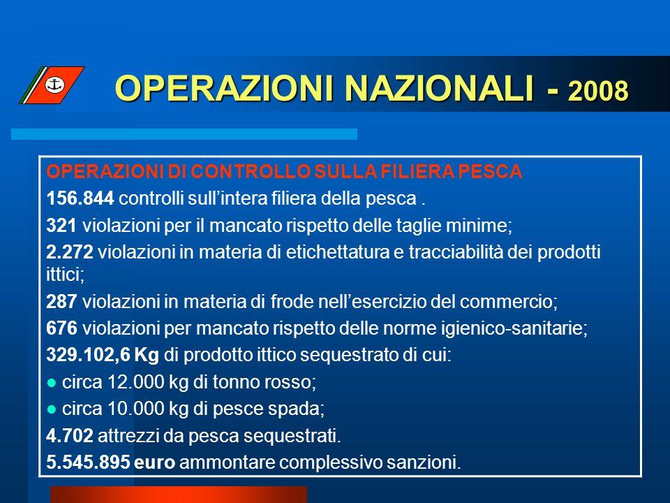 OPERAZIONI NAZIONALI - 2008