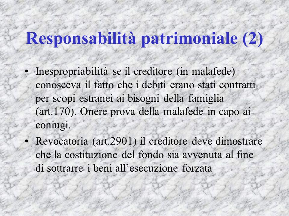 Responsabilità patrimoniale (2)