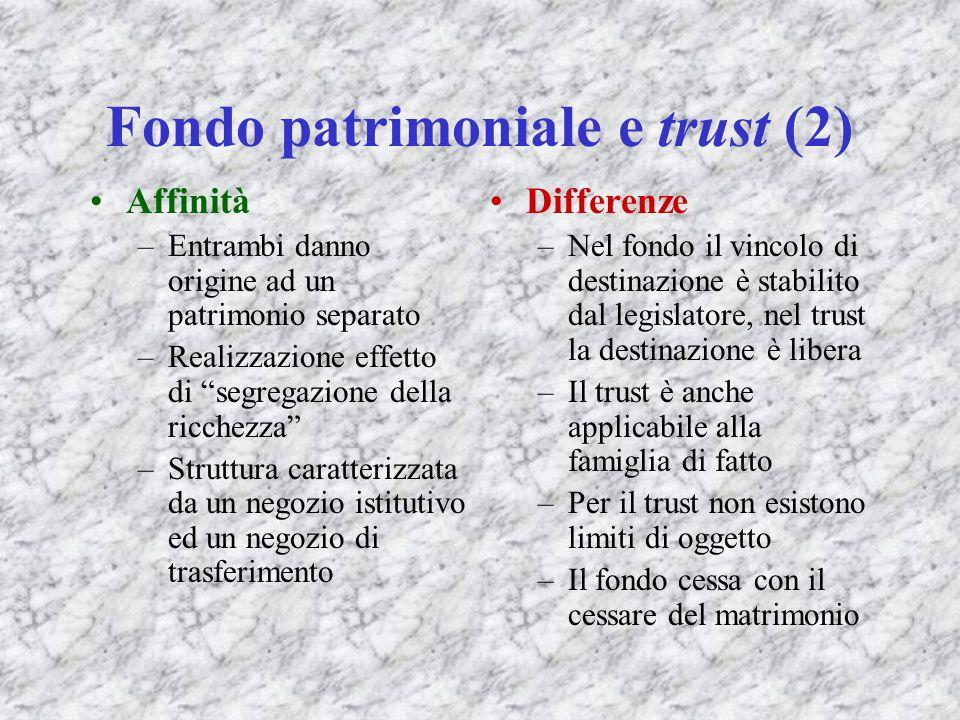 Fondo patrimoniale e trust (2)