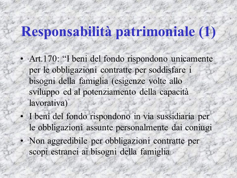 Responsabilità patrimoniale (1)