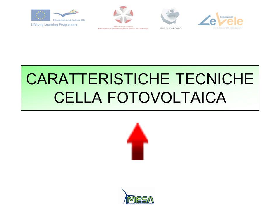 CARATTERISTICHE TECNICHE CELLA FOTOVOLTAICA