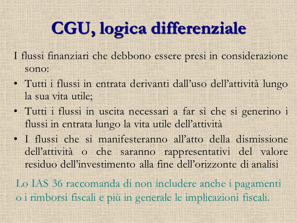 CGU, logica differenziale