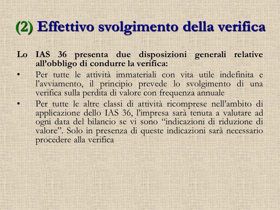 (2) Effettivo svolgimento della verifica