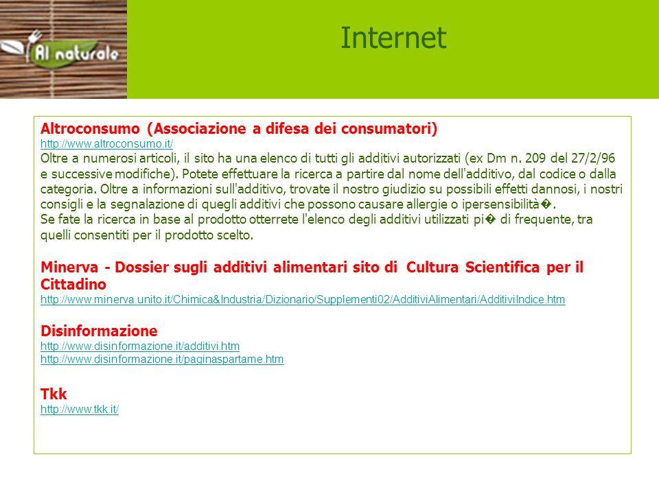 Internet Altroconsumo (Associazione a difesa dei consumatori)
