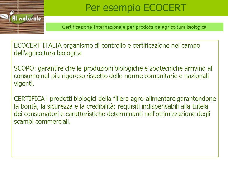 Certificazione Internazionale per prodotti da agricoltura biologica