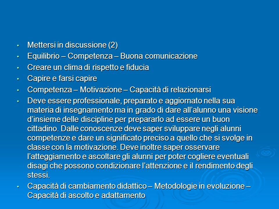 Mettersi in discussione (2)