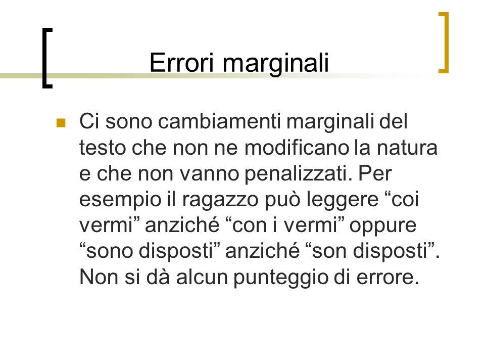 Errori marginali