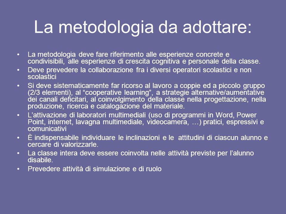 La metodologia da adottare: