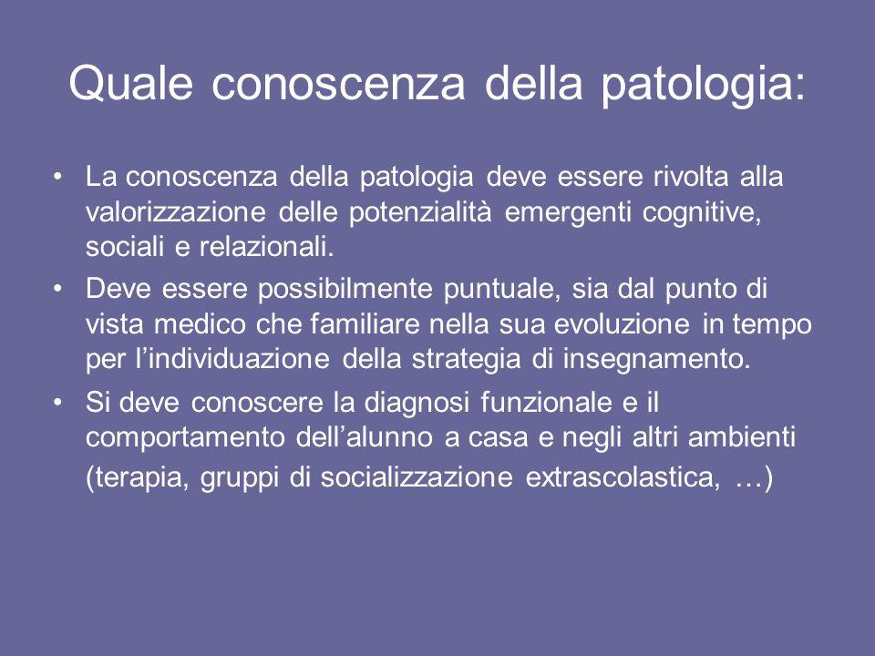 Quale conoscenza della patologia: