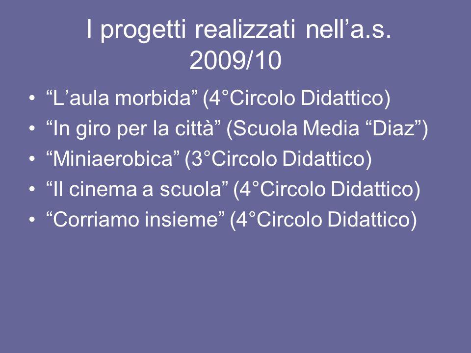 I progetti realizzati nell'a.s. 2009/10