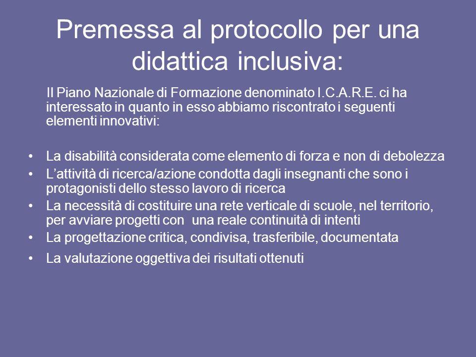 Premessa al protocollo per una didattica inclusiva:
